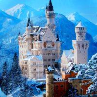 Замок Нойшванштайн- зима