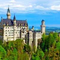 Замок Нойшванштайн (Schloss Neuschwanstein) - лето
